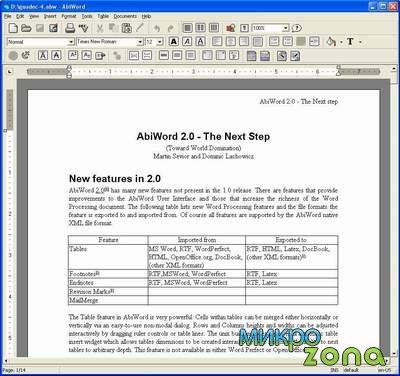 Текстовый редактор AbiWord v.2.7.7