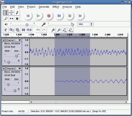 Звуковой редактор Audacity v.1.3.8 Beta